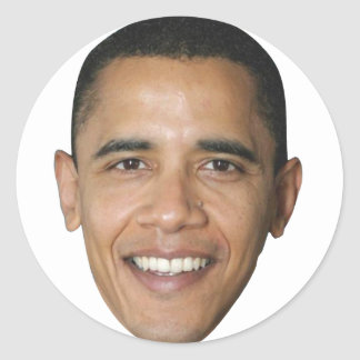 Barack's Face Classic Round Sticker