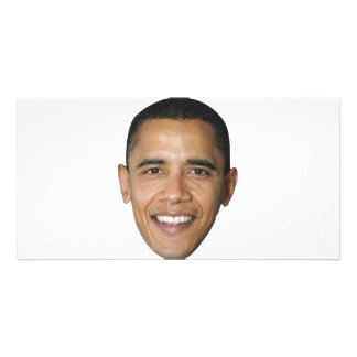 Barack's Face Personalized Photo Card