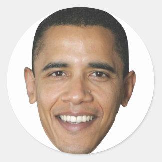 Barack's Face Round Sticker