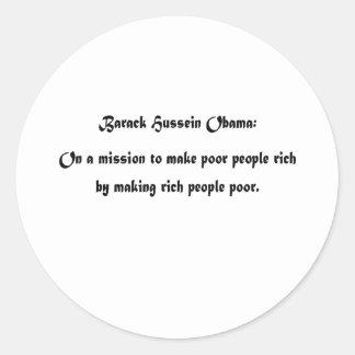 Barack's Mission Classic Round Sticker