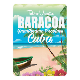 Baracoa Guantánamo Prov Cuba beach vacation poster Card