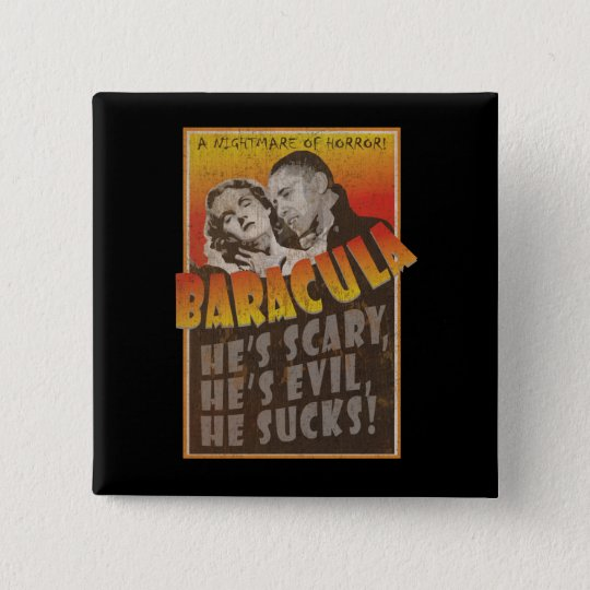 Baracula - Barack Obama Movie Poster Button