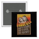 Baracula - Barack Obama Movie Poster Pinback Buttons