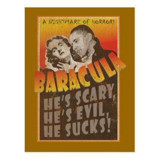 Baracula - Barack Obama Movie Poster Postcard