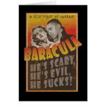 Baracula - cartel de película de Barack Obama Tarjeta De Felicitación