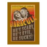 Baracula - cartel de película de Barack Obama Tarjetas Postales