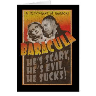 Baracula - feliz Halloween Barack Obama Tarjeta