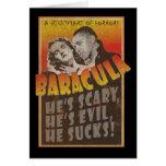 Baracula - Happy Halloween Barack Obama Card