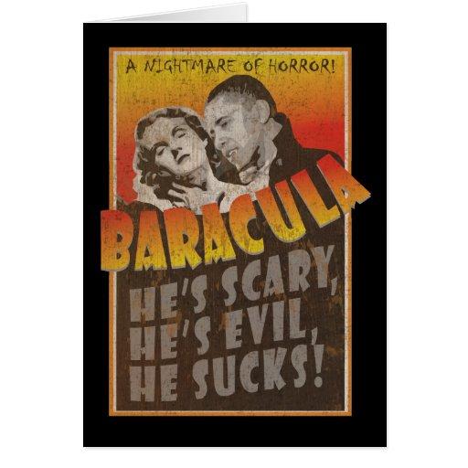 Baracula - Happy Halloween Barack Obama Cards