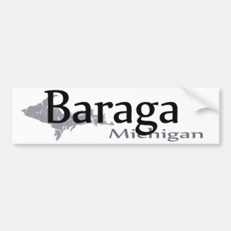Baraga Michigan Bumper Sticker