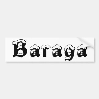 Baraga Michigan Snow Bumper Sticker