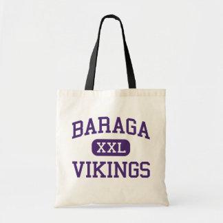 Baraga - Vikingos - área - Baraga Michigan Bolsas De Mano