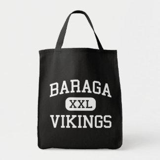Baraga - Vikingos - área - Baraga Michigan Bolsas Lienzo