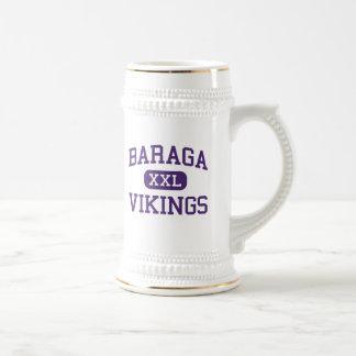 Baraga - Vikingos - área - Baraga Michigan Tazas De Café