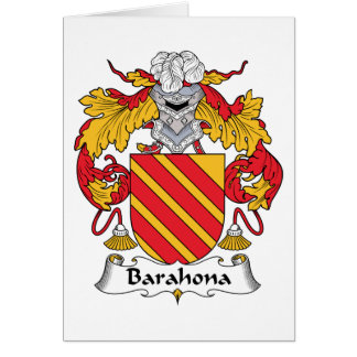 Barahona Family Crest Greeting Card