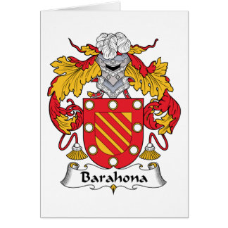 Barahona Family Crest Cards