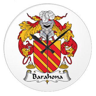 Barahona Family Crest Wallclock