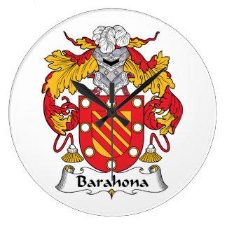Barahona Family Crest Wall Clocks