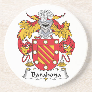 Barahona Family Crest Drink Coaster