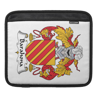 Barahona Family Crest Sleeves For iPads