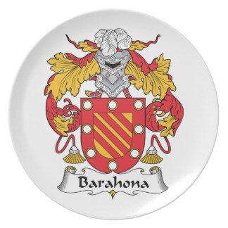 Barahona Family Crest Plates