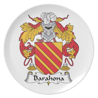 Barahona Family Crest Party Plates