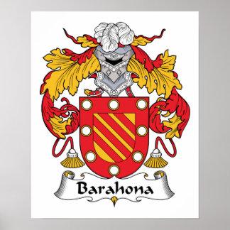 Barahona Family Crest Print