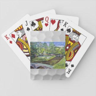Baraja con la pintura del golfland cartas de póquer