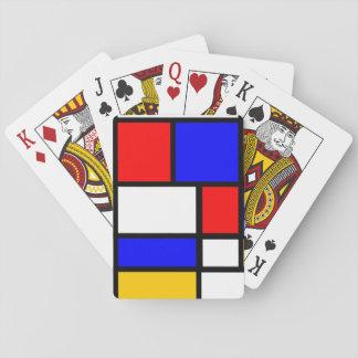 Baraja de estilo Mondrian Baraja De Cartas