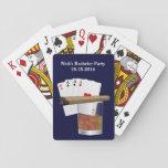 Baraja de naipe de encargo de la despedida de solt cartas de póquer