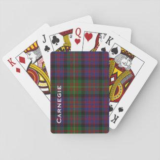 Baraja de naipe de encargo de la tela escocesa de baraja de cartas