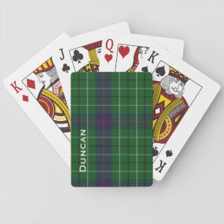 Baraja de naipe personalizada de la tela escocesa baraja de póquer