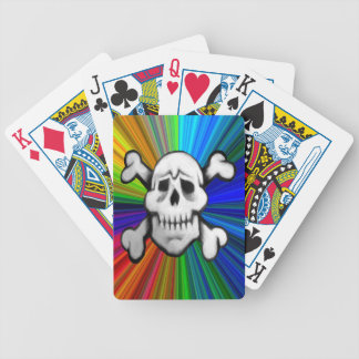 baraja del cráneo del pirata del colorburst
