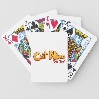 Baraja del logotipo del gato nueve baraja de cartas bicycle