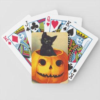 Baraja negra del fiesta del gatito JOL de Hallowee