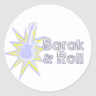 BARAK and Roll Round Stickers