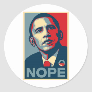 Barak NOPE Classic Round Sticker
