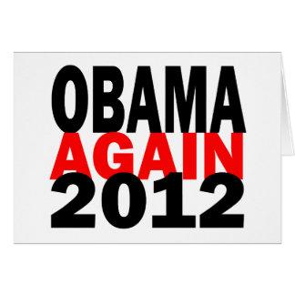 Barak Obama Again 2012 Presidential Election Card