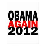 Barak Obama Again 2012 Presidential Election Postcards