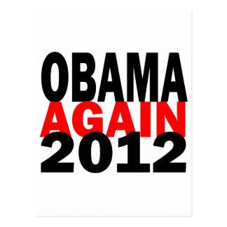 Barak Obama Again 2012 Presidential Election Postcard