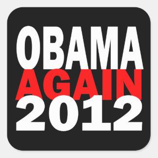 Barak Obama Again 2012 Presidential Election Square Sticker