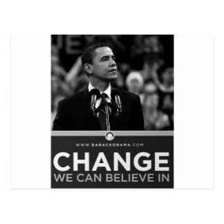Barak Obama Collection Postcard