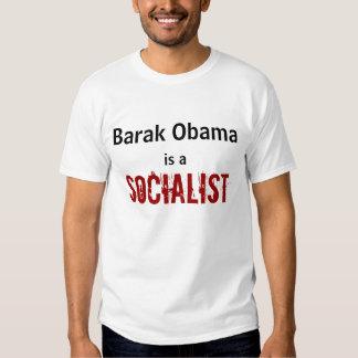 Barak Obama, es a, SOCIALISTA Remeras