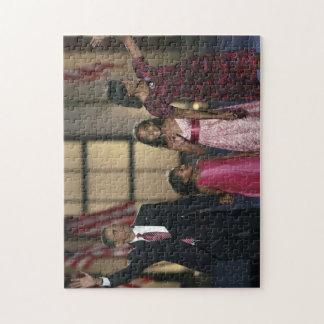 Barak Obama family wave Puzzles