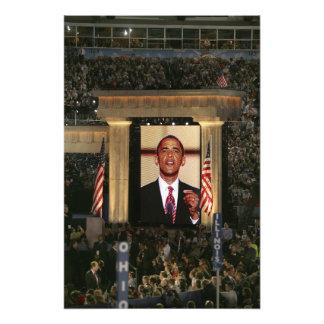 Barak Obama habla en el ayer por la noche del Cojinete
