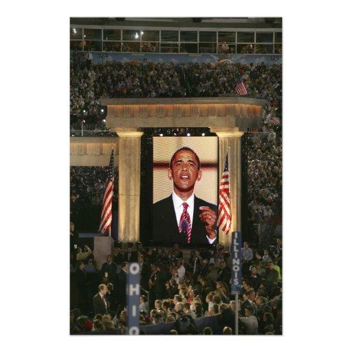 Barak Obama habla en el ayer por la noche del Impresiones Fotográficas