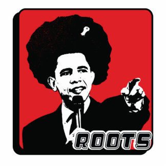 Barak Obama Roots Photo Sculpture Keychain