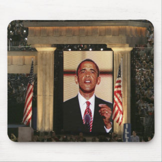 Barak Obama speaks at the last night of the Mousepads