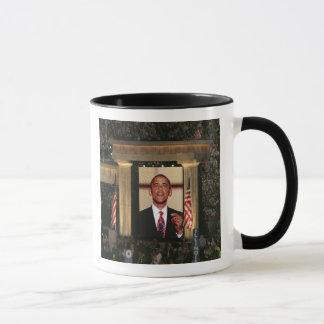 Barak Obama speaks at the last night of the Mug