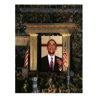 Barak Obama speaks at the last night of the Postcard